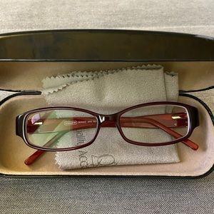 Coach Red Eyeglass Frames